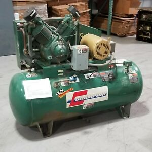Used Champion 10 Hp Reciprocating Piston Air Compressor 230 460 Volt