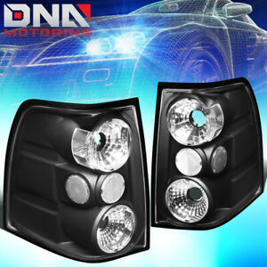 For 2003 2006 Ford Expedition Black Housing Altezza Style Tail Light Brake Lamps