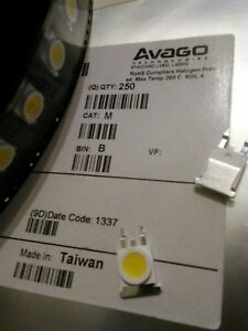 250 Avago Led Qsmt mw12 nlmj1 Cool White Led Spool roll 8mm Smt