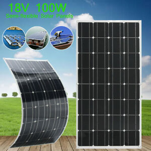 Elfeland 100w Watt 18v Monocrystalline Semi flexible Solar Panel Kit 1 5m Cable