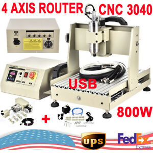 4axisusb 3040 Cnc Router Engraver Engraving Milling Machine 800w Vfd Woodworking