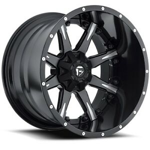 20x10 Fuel D251 Nutz Black Milled Wheels 8x6 5 19mm Set Of 4