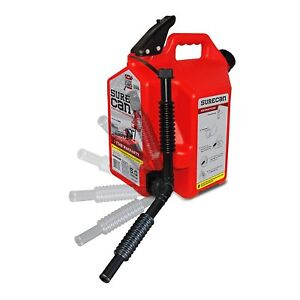 Surecan Gas Can With Rotating Spout 5 0 Gallon