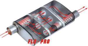 Flo Pro Original Oval Muffler Offset 3 5 In Out X 24 For Ford Gm Diesel 99 05