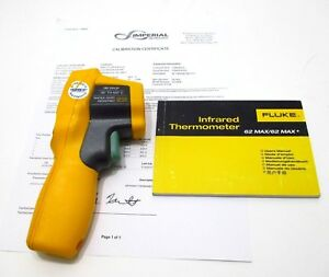 Fluke 62 Max Plus Dual Laser Infrared Thermometer W Nist Calibration Cert