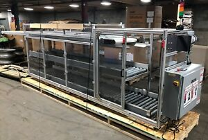 Hfa Auto q2 Over Under Box Fill System Roller Conveyor 24 Tote Filling 20ft L