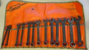 Snap on Goex Short Metric Combination Wrench Industrial Set 13pc