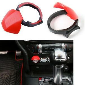 Car Red Engine Start Stop Button Cover Push Switch Control Trim For Ford Mustang
