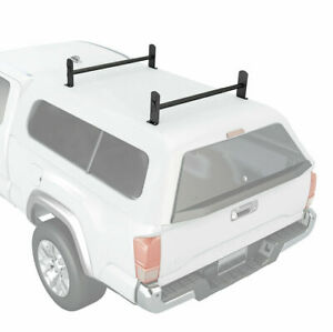 Universal Pickup Truck Cap Topper 2 Bar Ladder Roof Van Rack Adjustable Steel