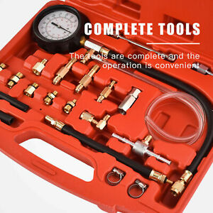140 Psi Fuel Injection Pressure Injector Pump Tester Test Pressure Gauge Kit