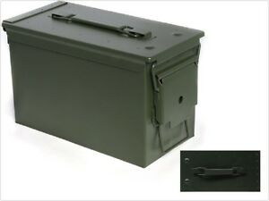 Sports Shooting Metal Ammo Box Heavy gauge steel storage for ammunition