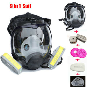 9 In 1 Suit Industry Painting Spray Gas Mask Same For 3 M 6800 Full Face
