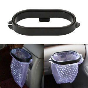 Car Auto Clip On Trash Bag Rack Garbage Container Bin Litter Holder Frame