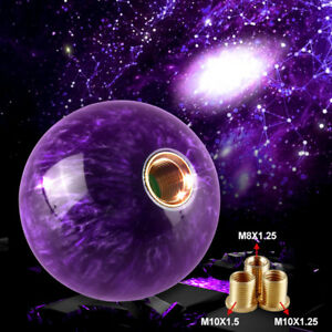 Universal Purple Pearl Shift Knob For Short Throw Gear Shifter Selector