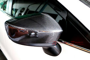 Real Gloss Carbon Fiber Side Mirror Cover 13 16 Mazda3 Bm Sp25 Gt Mazdaspeed Jdm