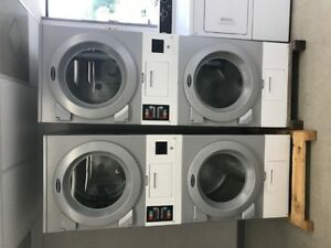 Wascomat Commercial Electric Dryer stack Ad22