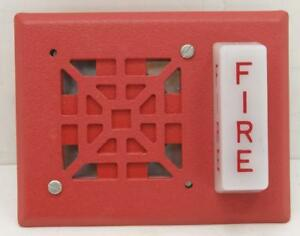 Wheelock V7001t 24 Strobe Horn Red Fire Alarm new