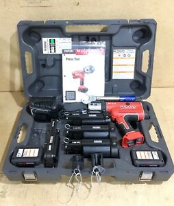 Ridgid Propress Rp 210 W charger 4x Press Frames 2x Batteries And Case