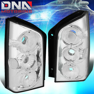 For 2005 2012 Nissan Pathfinder Chrome Housing Altezza Tail Light Brake Lamps