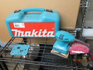 Makita BO4552 Electric Finishing 14 Sheet Sander 1.6 Amps W Case Low Use Tool