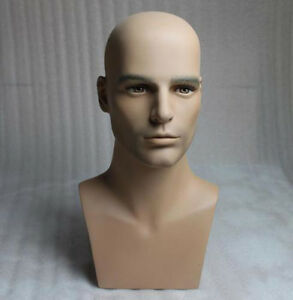 High Quality Realistic Male Mannequin Head For Wig And Sunglasses Display