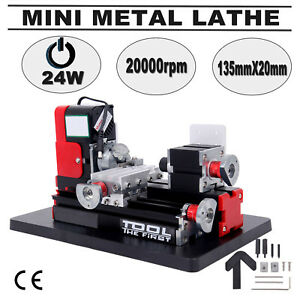 Mini Metal Working Lathe Motorized Machine Diy Tool Metal Woodworking 20000rpm