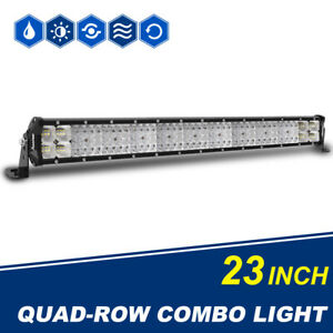 3pcs Cree Slim 12inch 624w Single Row Led Light Bar Spot Flood Combo Off Road