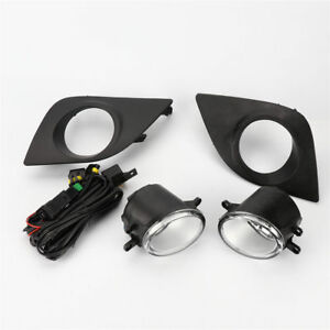Clear Lens Fog Lights Lamps Kit W Switch Cable Bezel For Toyota 14 16 Corolla