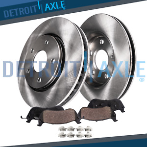 Front Disc Brakes Rotor Ceramic Pad Fit 2002 2003 2004 2005 2006 Nissan Altima