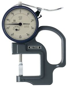 Mitutoyo 7316s Dial Thickness Gage Groove Blade Anvil 0 0 5 Range 0 001 Grad