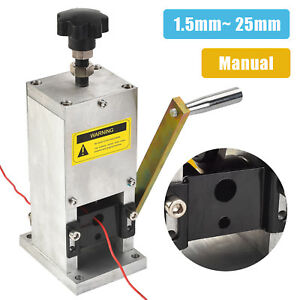 Manual Aluminum Wire Stripping Machine Copper Cable Stripper W Drill Connector