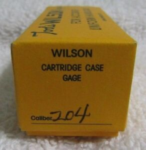 LE Wilson Cartridge Case Gage 204 Ruger