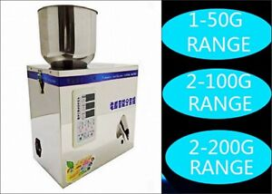1 200g Automatic Powder Racking filling Machine Weigh Filler For Tea seed grain