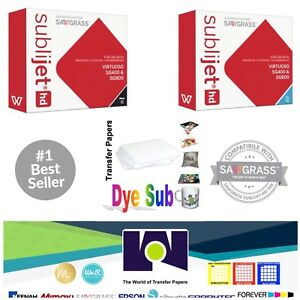 Sawgrass Sublimation Ink Cyan Black Cartridges For Sg400 sg800 Free Paper