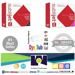Sawgrass Sublimation Ink Magenta Black Cartridges For Sg400 sg800 Free Paper