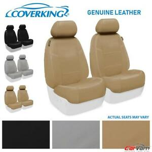 Coverking Genuine Leather Front Seat Covers For 1996 1998 Jeep Grand Cherokee