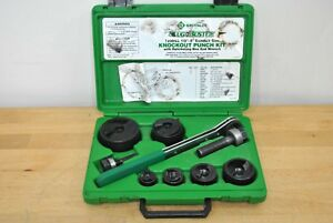 Greenlee Tools 7238sb Slug buster Knockout Punch Set W Manual Ratchet Wrench