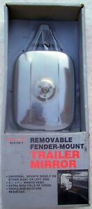 Mirror Universal Removable Fender Mount Car Truck Trailer Towing New Vintage