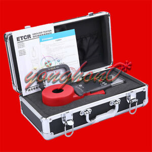 Digital Clamp On Ground Earth Resistance Tester Meter Etcr2100b