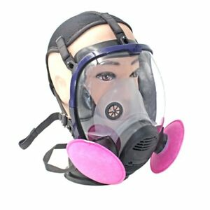 Full Face Respirator Anti dust Chemical Safety Gas Mask With Cotton Filter Sm