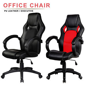 High Back Racing Car Style Bucket Seat Office Computer Desk Chair Gam