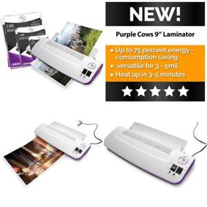 Thermal Hot Cold Laminator Machine W 50 Pockets pouches Warms Up In Just 3 Min