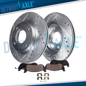 Front Drilled Slotted Rotors Ceramic Brake Pads For Chevy Cobalt Pontiac G5