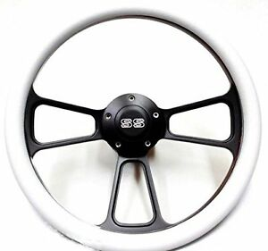 1967 Camaro 14 Billet White Steering Wheel With Chevy Ss Horn Adapter