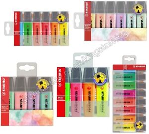 Stabilo Boss Highlighter Pens Wallet Chisel Tip 2 5mm Assorted Colour And Pastel