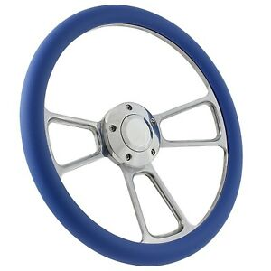 70 79 Ford Ranchero Steering Wheel Kit 14 Polished Muscle Steering Wheel Sky