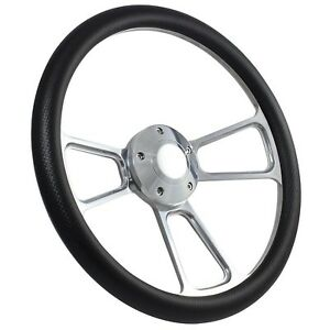 70 79 Ford Ranchero Steering Wheel Kit 14 Polished Muscle Steering Wheel Car