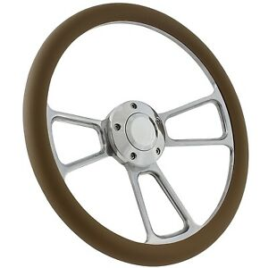65 69 Ford Fairlane Mustang Steering Wheel Kit 14 Polished Muscle Steering