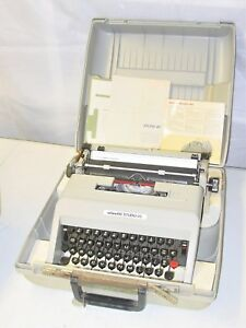Olivetti Studio 45 Manual Typewriter W Case Keys Owners Manual Works Great
