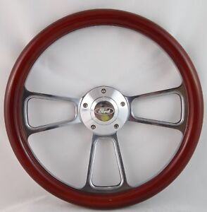 70 79 Ford Ranchero 14 Wood Billet Polished Steering Wheel Set Adapter